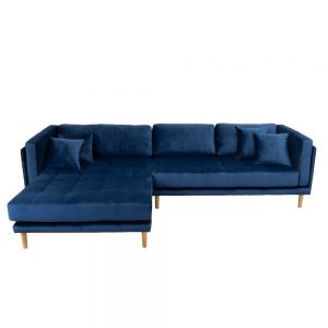 Cali venstrevendt chaiselong sofa, Velour
